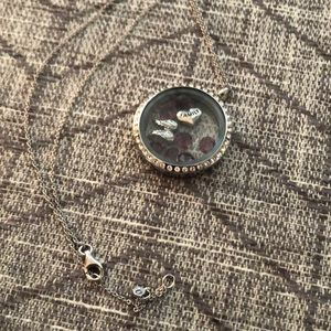 Silver Origami Owl Necklace with charms!!